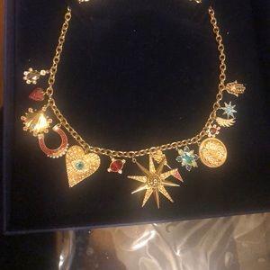 Swarovski Multi Colored Charms Necklace
